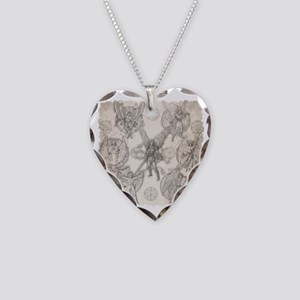 7Angels10x10BlkT Necklace Heart Charm