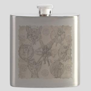 7Angels10x10BlkT Flask