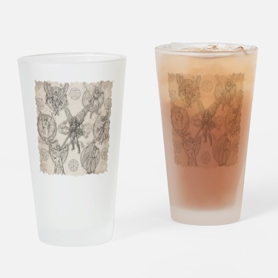 7Angels10x10BlkT Drinking Glass