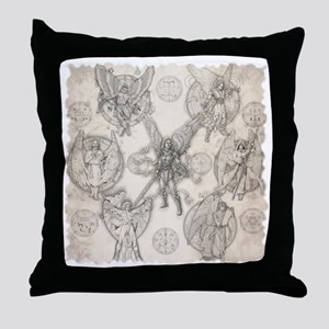 7Angels10x10BlkT Throw Pillow