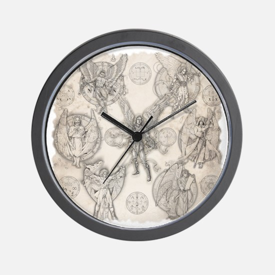 7Angels10x10BlkT Wall Clock
