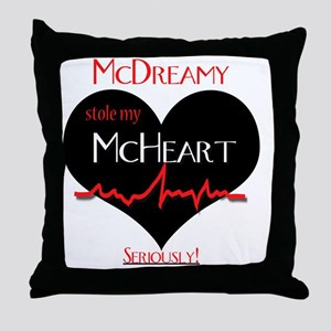 McDreamy Throw Pillow