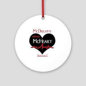 McDreamy Round Ornament