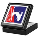 A Snow Skier in Red White and Blue Keepsake Box