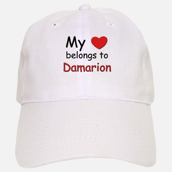 My heart belongs to damarion Baseball Baseball Cap