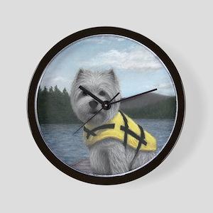 Truman at the Lake Wall Clock