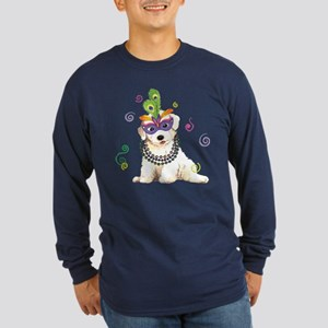 Party Bichon Long Sleeve Dark T-Shirt
