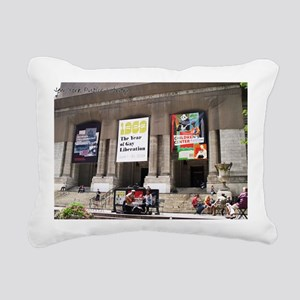 nypl-postcard Rectangular Canvas Pillow