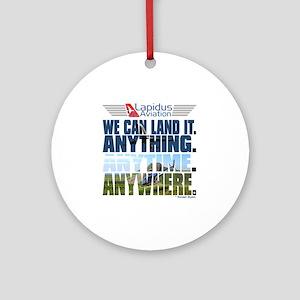 3-Lapidus Aviation Round Ornament