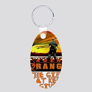 GIFT THAT KEEPS ON GIVING Aluminum Oval Keychain