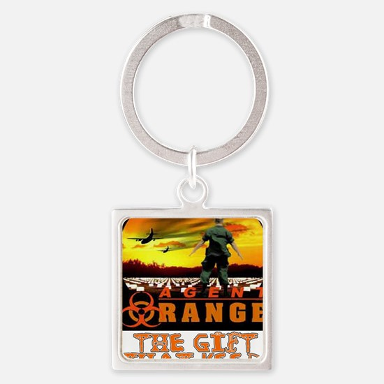 GIFT THAT KEEPS ON GIVING Square Keychain