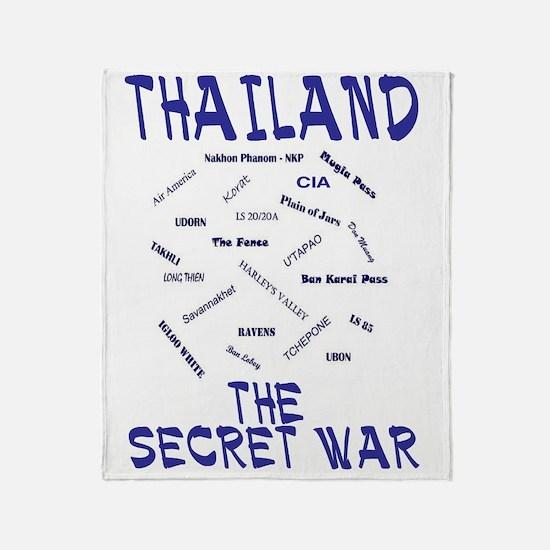 THAILAND SECRET WAR Throw Blanket