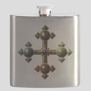 Gold-Eclipse-Elemental-Cross-Symbols-10x10- Flask