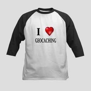 I love geocaching Kids Baseball Jersey