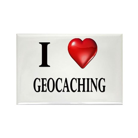 I love geocaching Rectangle Magnet (10 pack)