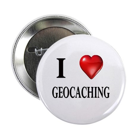 """I love geocaching 2.25"""" Button (10 pack)"""