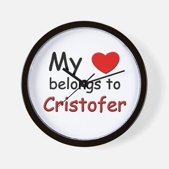 My heart belongs to cristofer Wall Clock