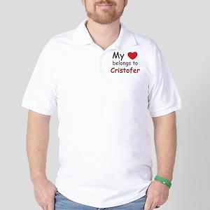 My heart belongs to cristofer Golf Shirt