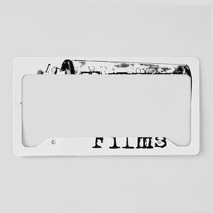 ecfilms-4white License Plate Holder