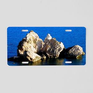 Aphrodites Rock Aluminum License Plate