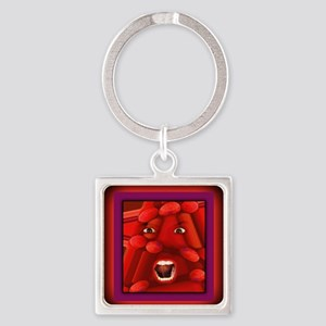Demented mousepad Square Keychain
