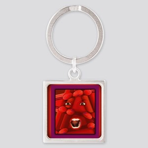 Demented notecard Square Keychain