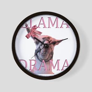 LLAMADRAMA Wall Clock