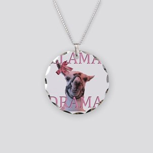 LLAMADRAMA Necklace Circle Charm