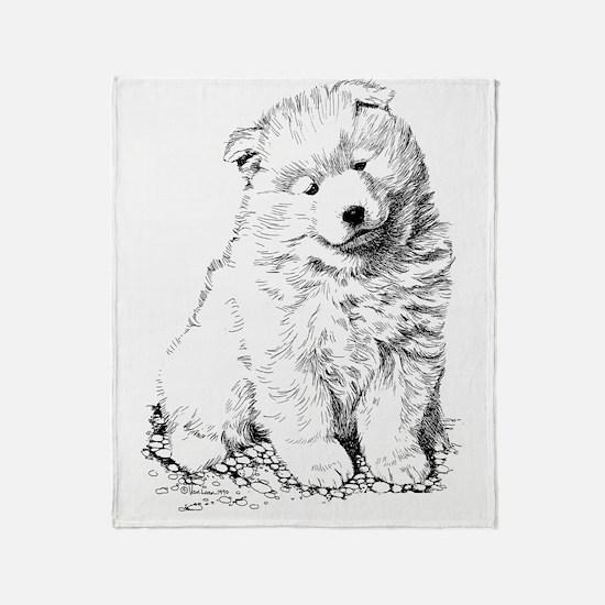 Samoyed Puppy Throw Blanket