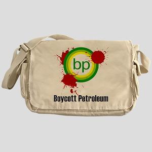 boycott_petroleum_white2 Messenger Bag