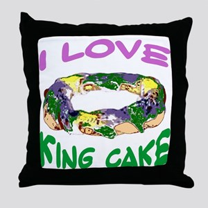 I LOVE KING CAKE Throw Pillow