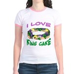 I LOVE KING CAKE Jr. Ringer T-Shirt