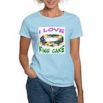 I LOVE KING CAKE Women's Pink T-Shirt