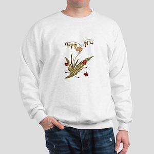 bleeding_heart_w_card Sweatshirt