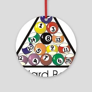 Billiard Balls 1 Round Ornament