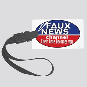 3-faux news Large Luggage Tag