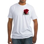 Red Rose Fitted T-Shirt