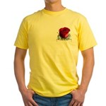 Red Rose Yellow T-Shirt