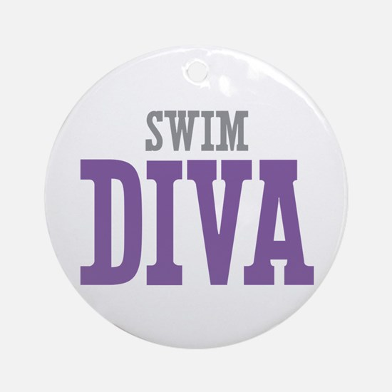 Swim DIVA Ornament (Round)