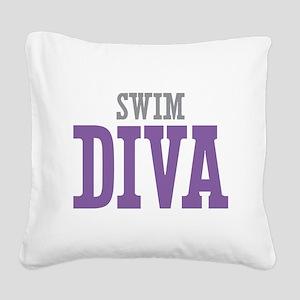 Swim DIVA Square Canvas Pillow
