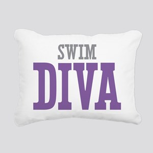 Swim DIVA Rectangular Canvas Pillow