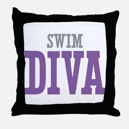 Swim DIVA Throw Pillow