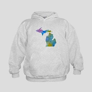 Michigan silhouette art Sweatshirt