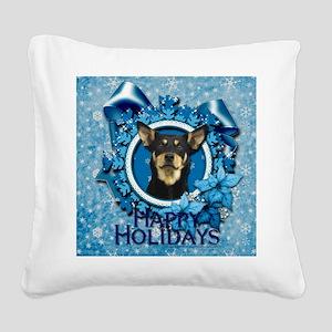 Blue_Snowflake_Australian_Kel Square Canvas Pillow