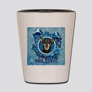 Blue_Snowflake_Australian_Kelpie_Sq Shot Glass