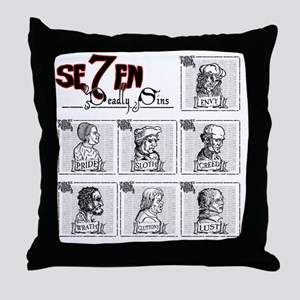 7deadly Throw Pillow