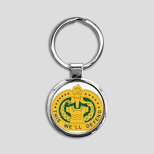 big Drill_Sergeant Round Keychain