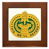 Army drill sergeant Framed Tiles