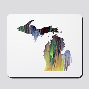 Michigan silhouette art Mousepad
