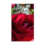 Red Rose Sticker (Rectangle)